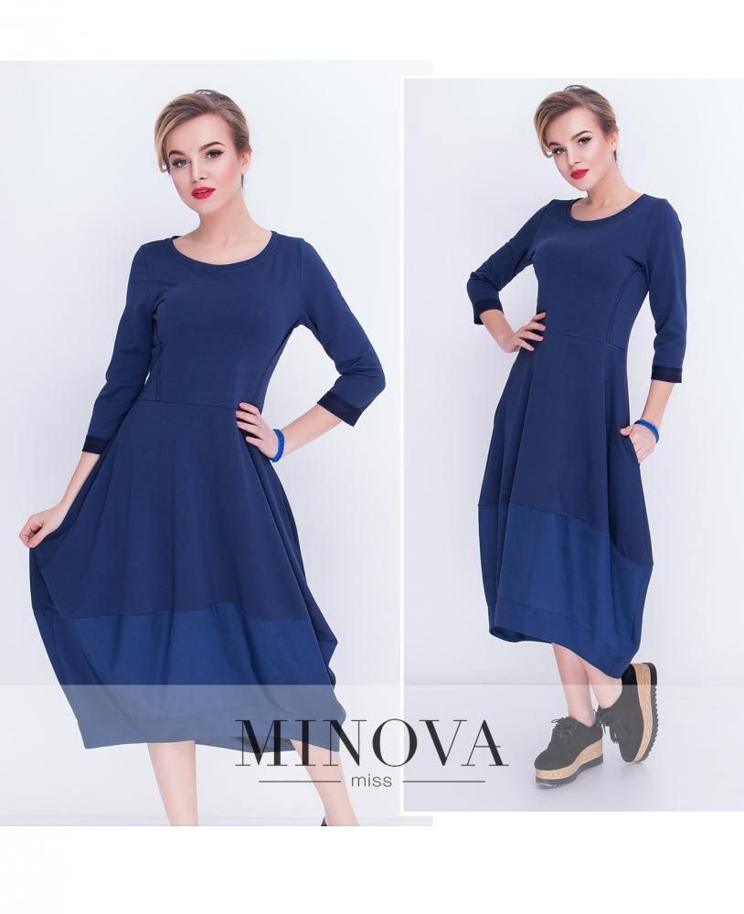 Платье №5015.21-синий