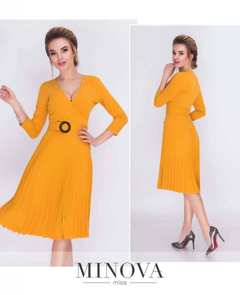 Платье №214-горчичный (sale)