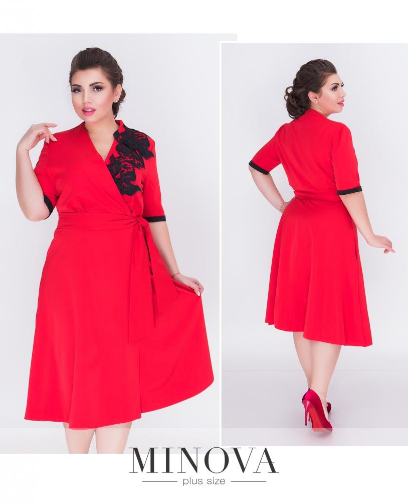 Платье №1205-красный (sale)