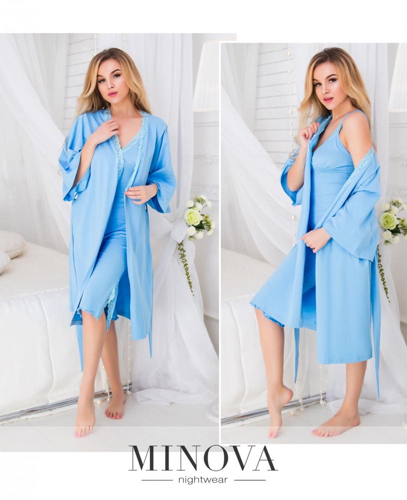 Пижамный комплект 3-ка №923н-голубой