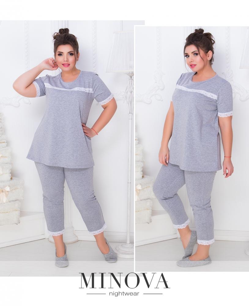 Пижама №812б-серый