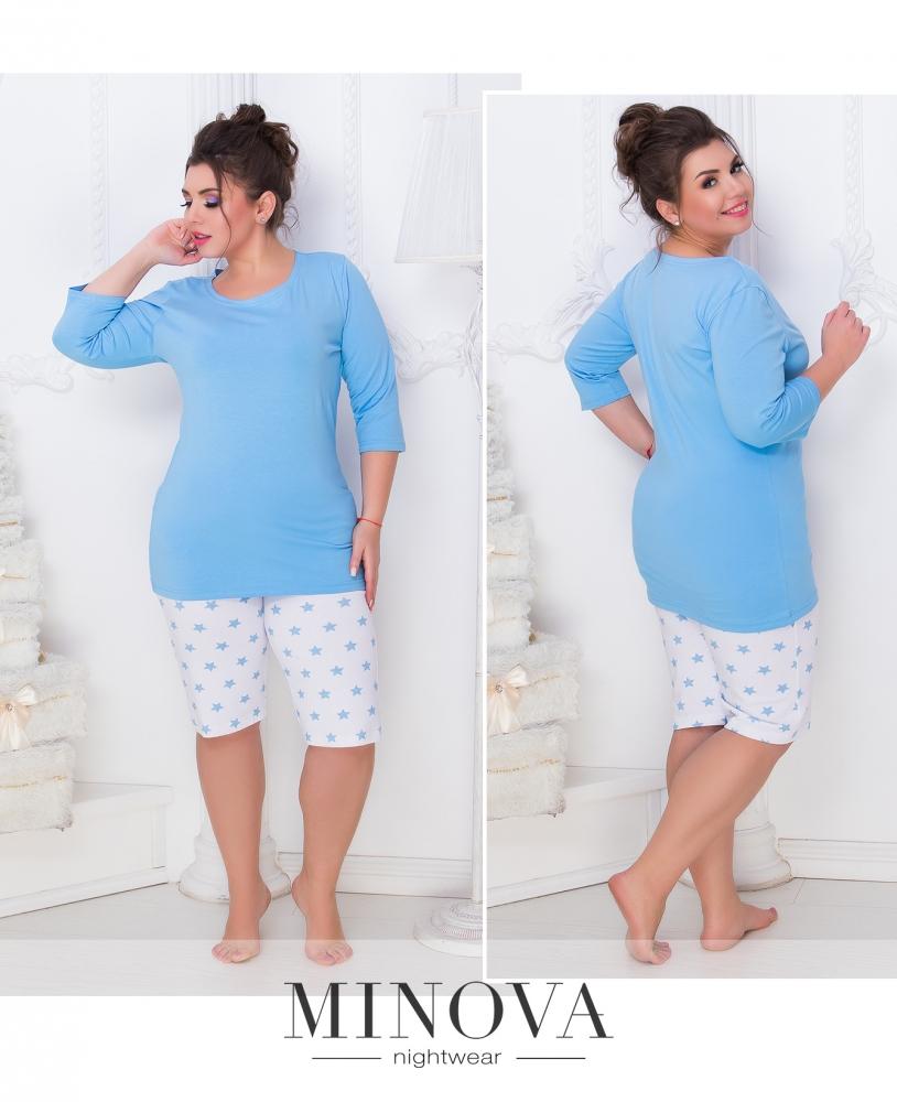 Пижама №808б-голубой