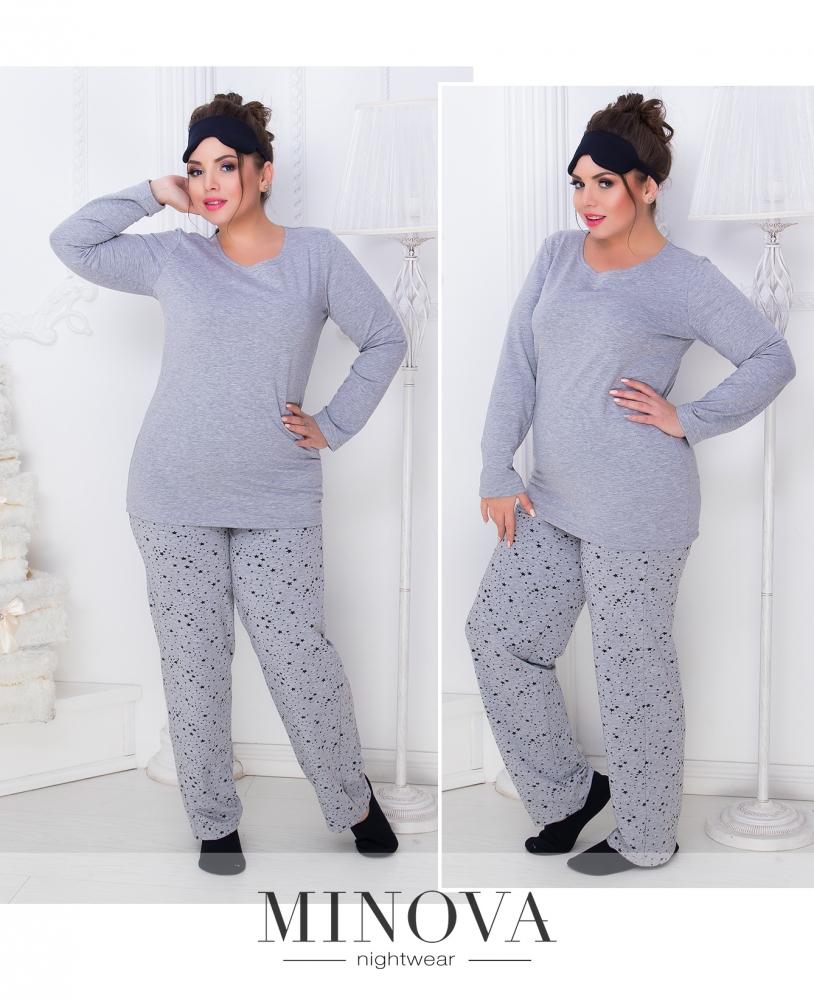 Пижама №807б-серый