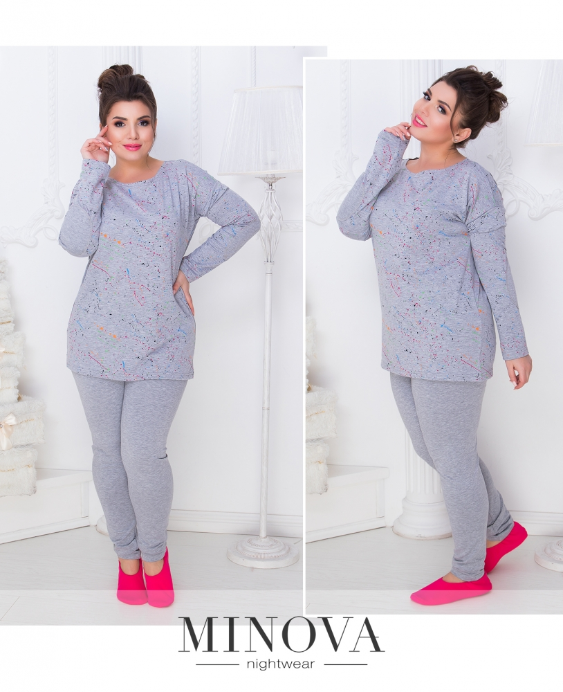 Пижама №809б-серый