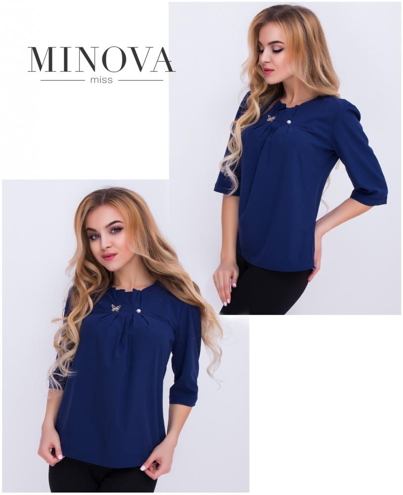 Блуза №408н-темно-синий