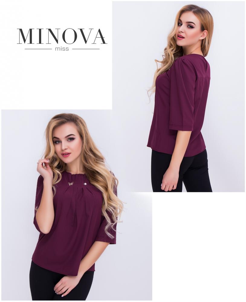 Блуза №408н-марсала