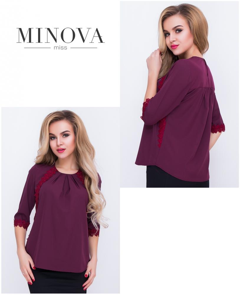 Блуза №406н-марсала