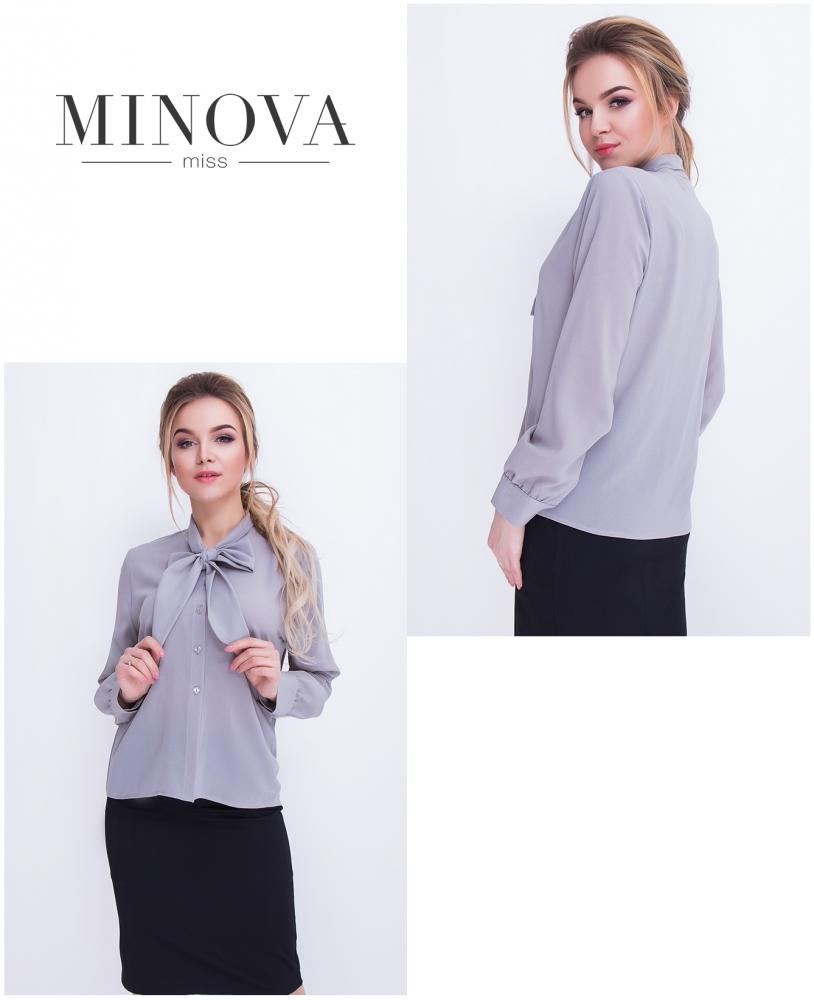 Блуза №3057.12-серый