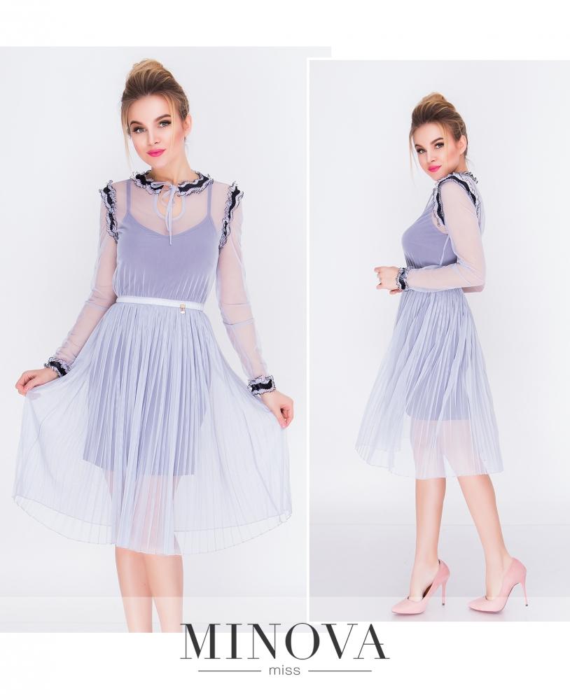 Платье №205-серый (sale)