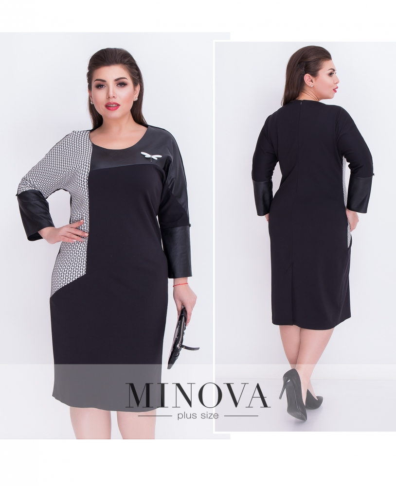 Платье №00035-черный (sale)