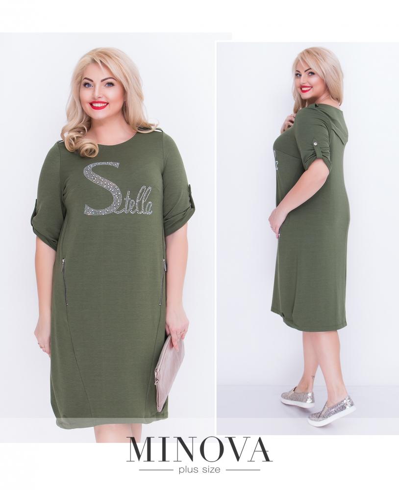 Платье №18-06-хаки (sale)