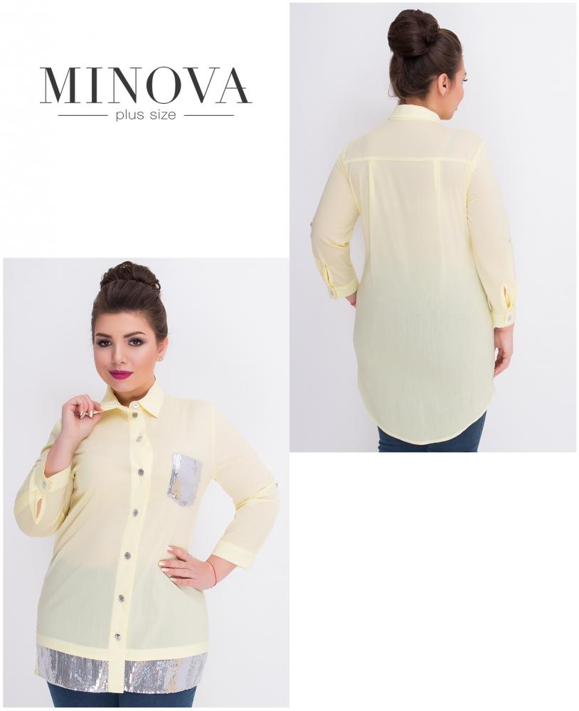 Рубашка №360-желтый