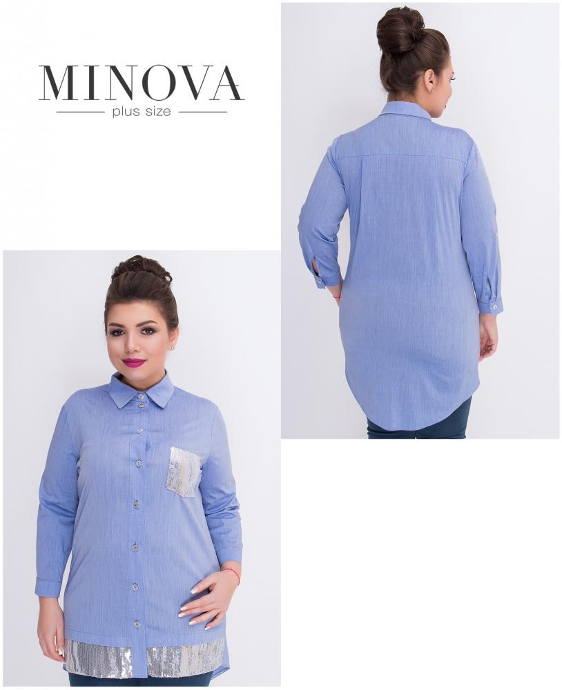 Рубашка №360-голубой