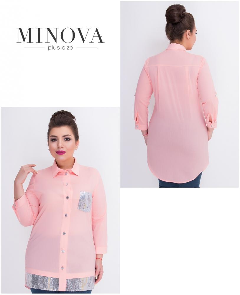 Рубашка №360-розовый