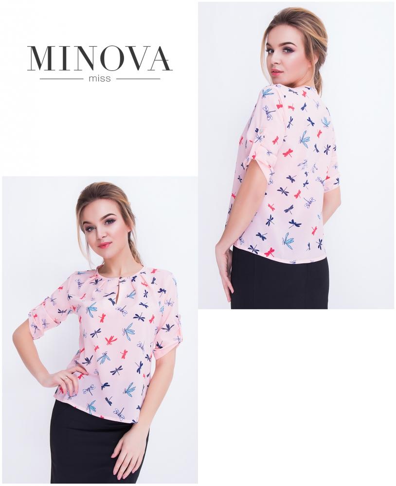Рубашка №410-розовый