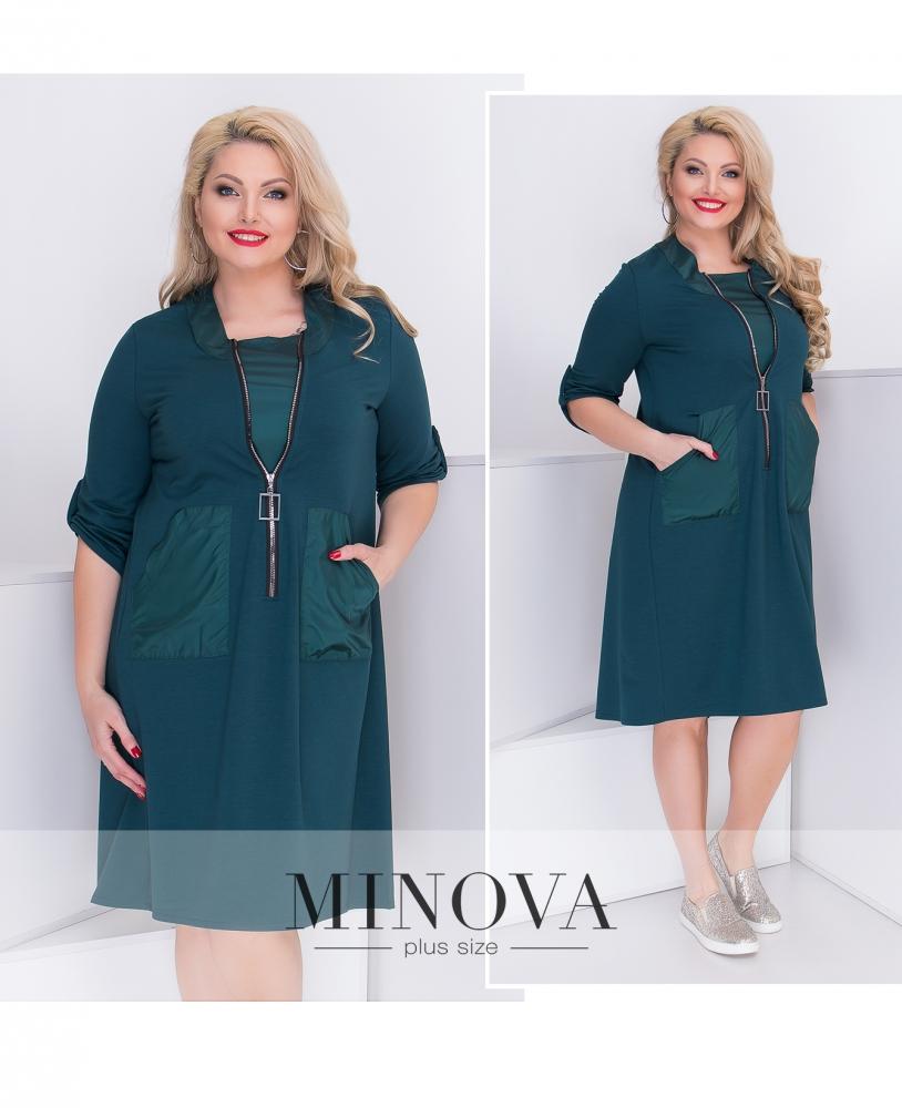 Платье №044-темно-зеленый (sale)