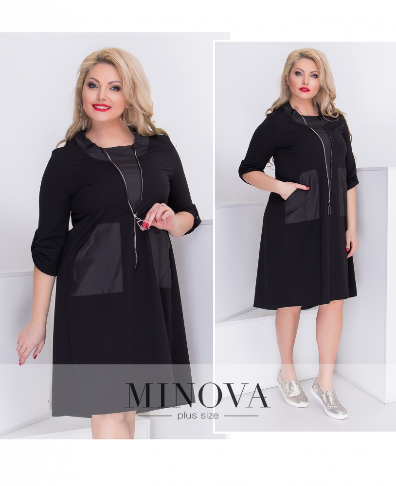 Платье №044-черный (sale)