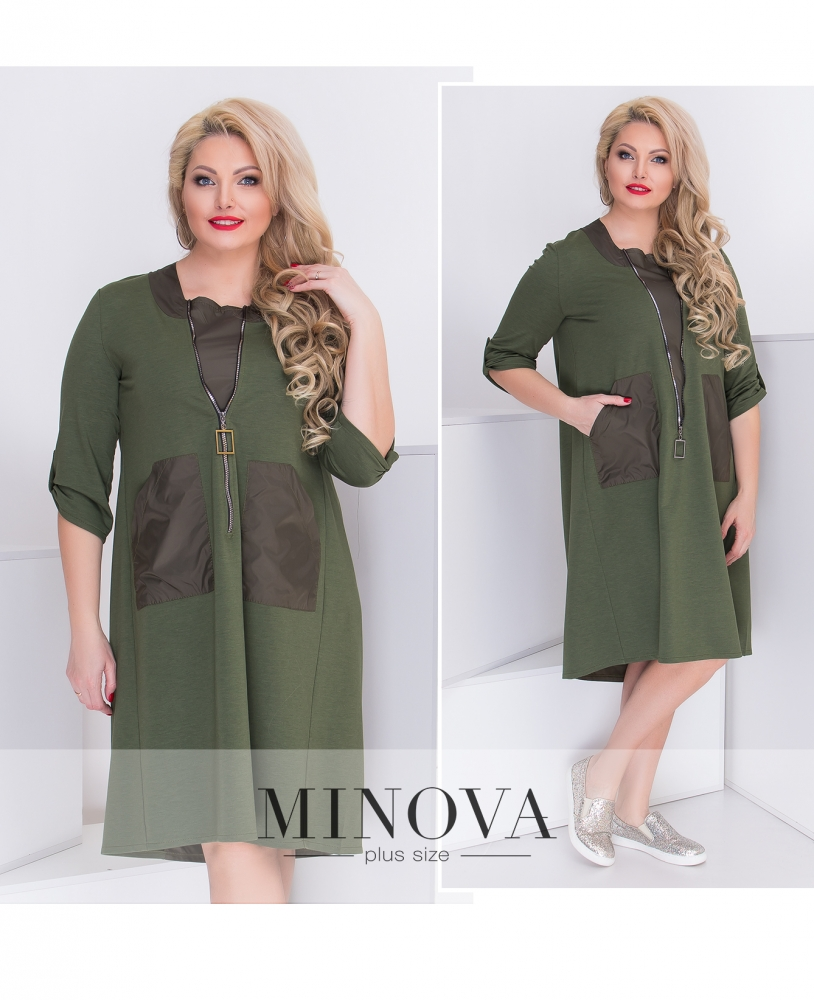 Платье №044-хаки (sale)