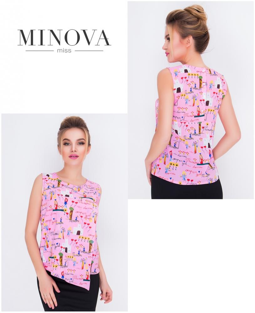 Блуза №418-розовый