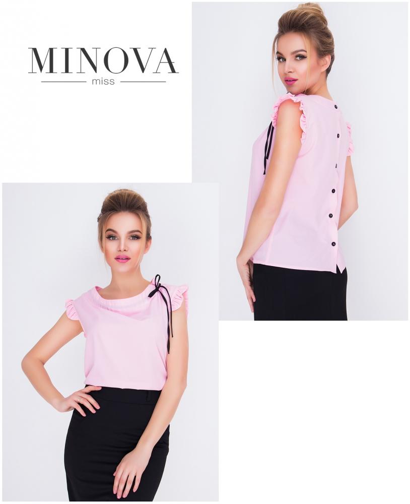 Блуза №417-розовый