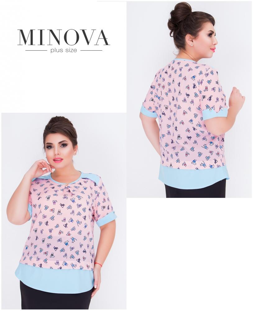 Блуза №424-розовый