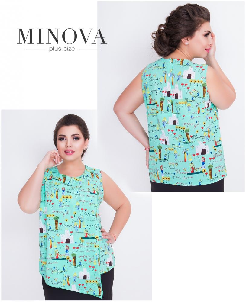 Блуза №421-мята
