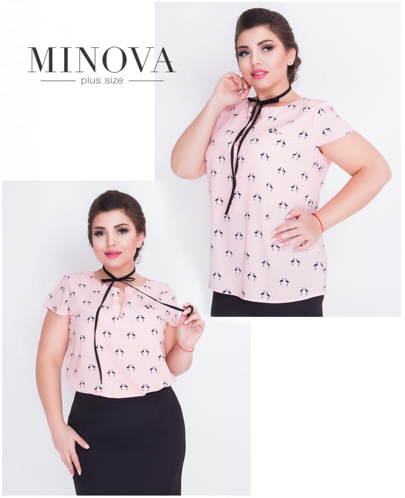 Блуза №419-розовый