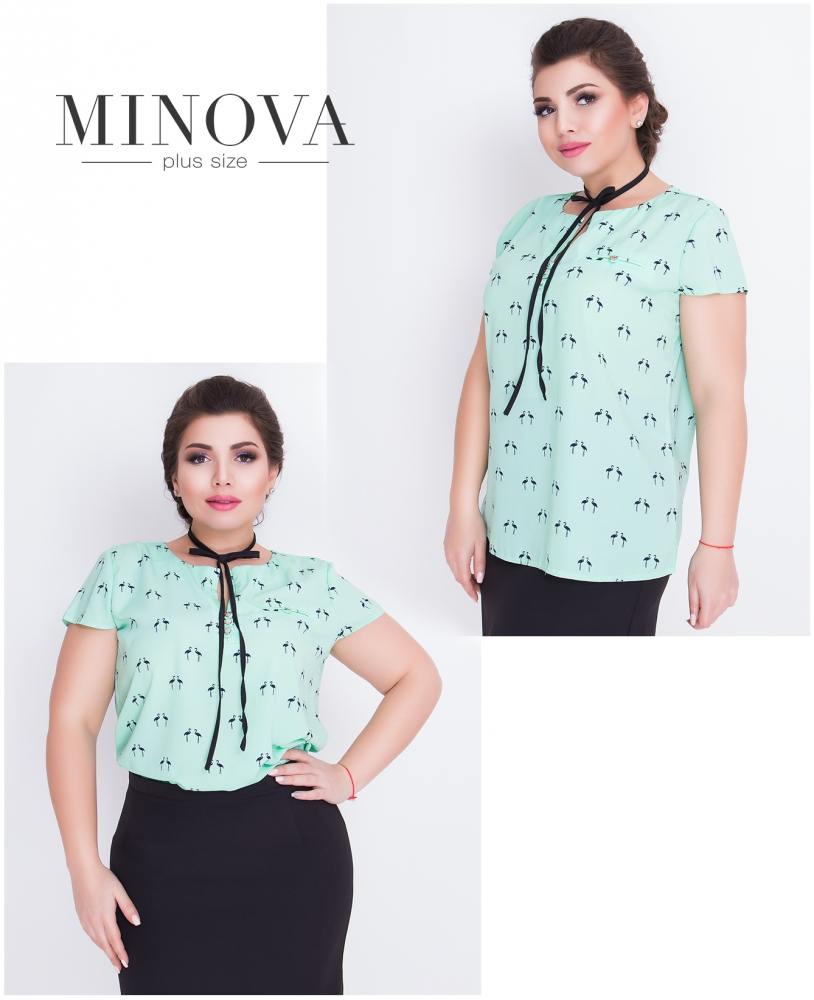 Блуза №419-мята