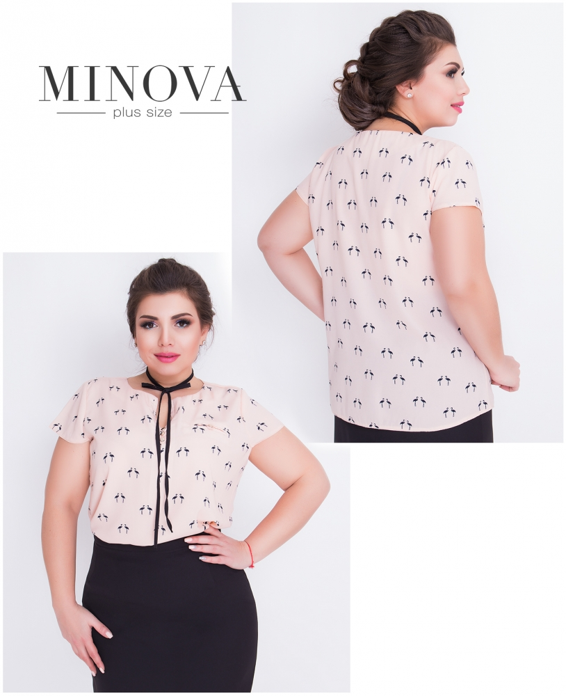 Блуза №419-бежевый