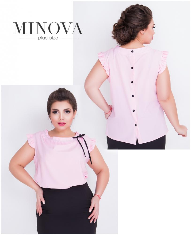 Блуза №416-розовый