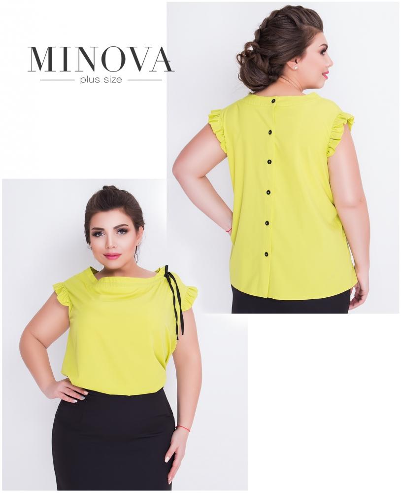 Блуза №416-оливковый