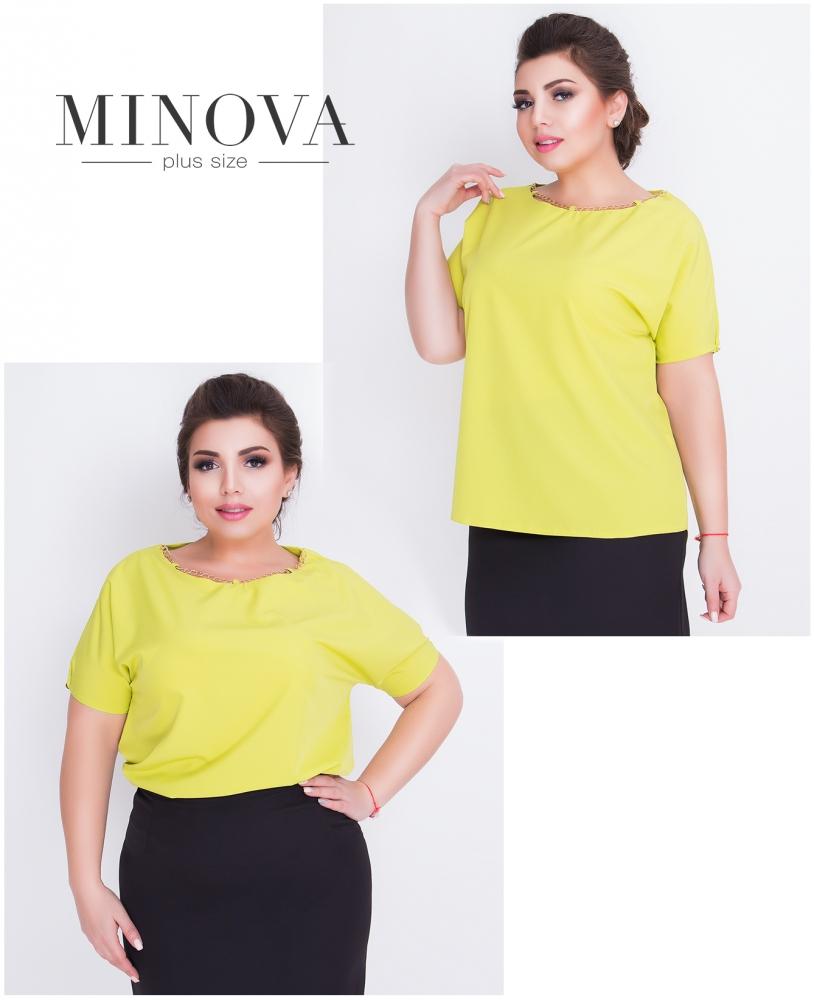 Блуза №414-оливковый