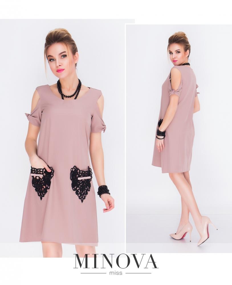 Платье №1210Н-бежевый (sale)