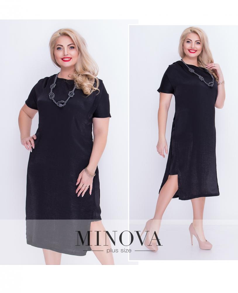 Платье №1255-черный (sale)