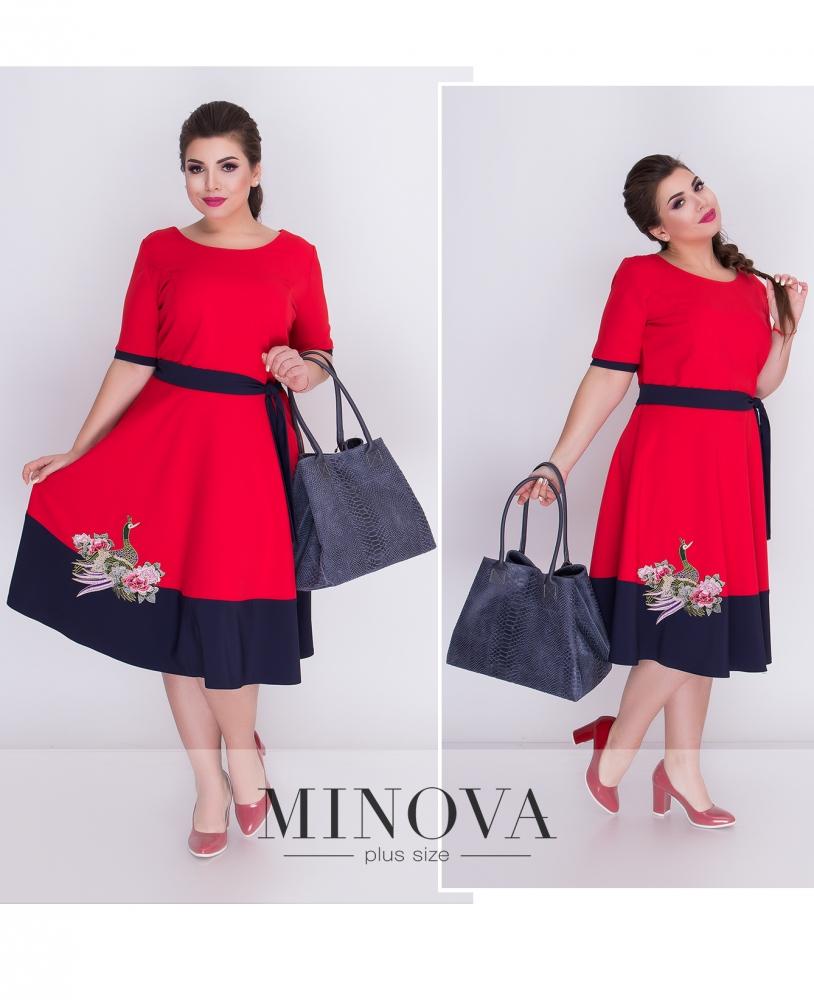 Платье №17-039-красный (sale)