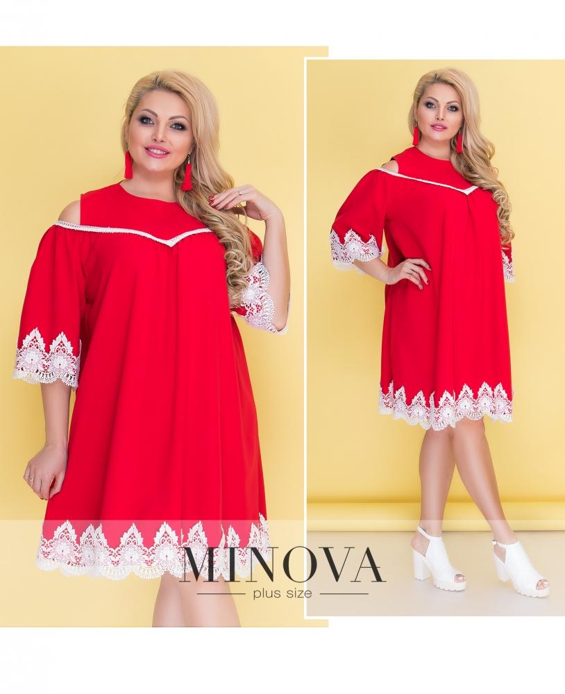 Платье №043Б-красный (sale)