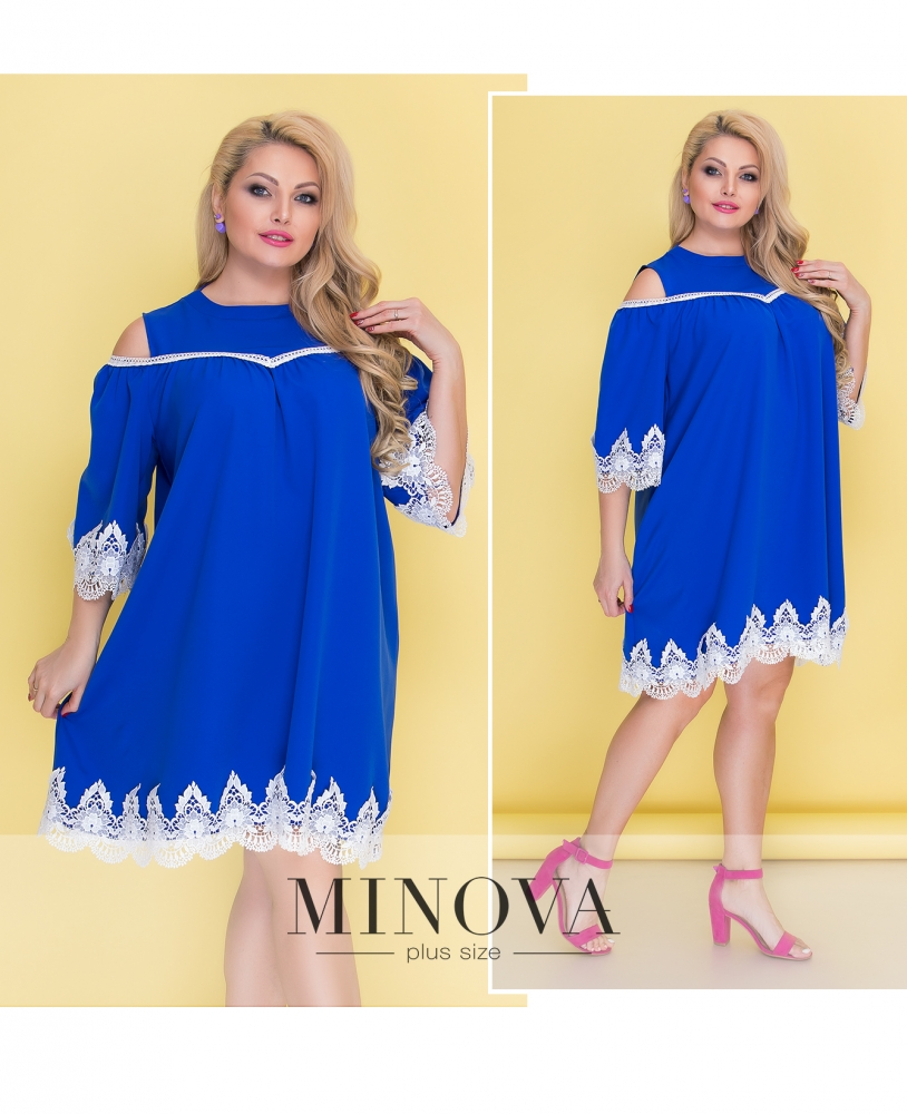 Платье №043Б-электрик (sale)