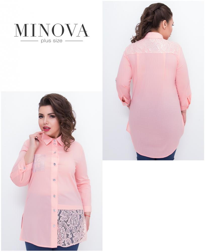 Рубашка №361-розовый