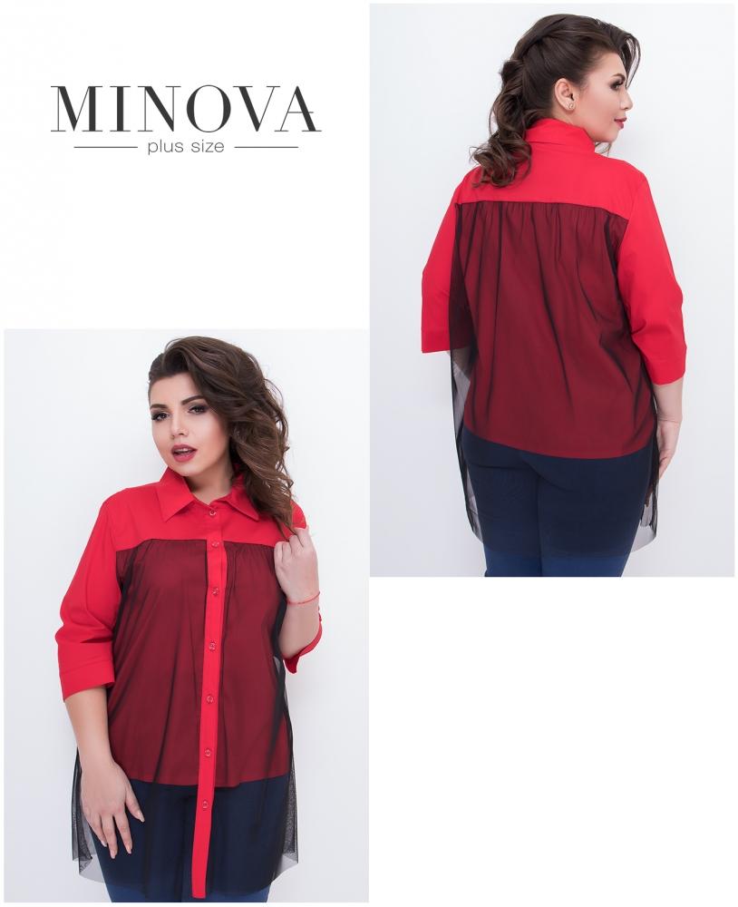 Рубашка №634-красный