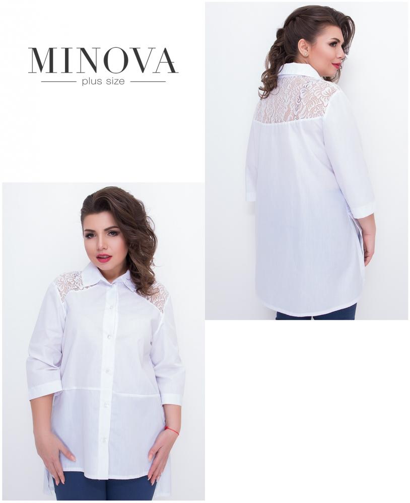 Рубашка №633-белый