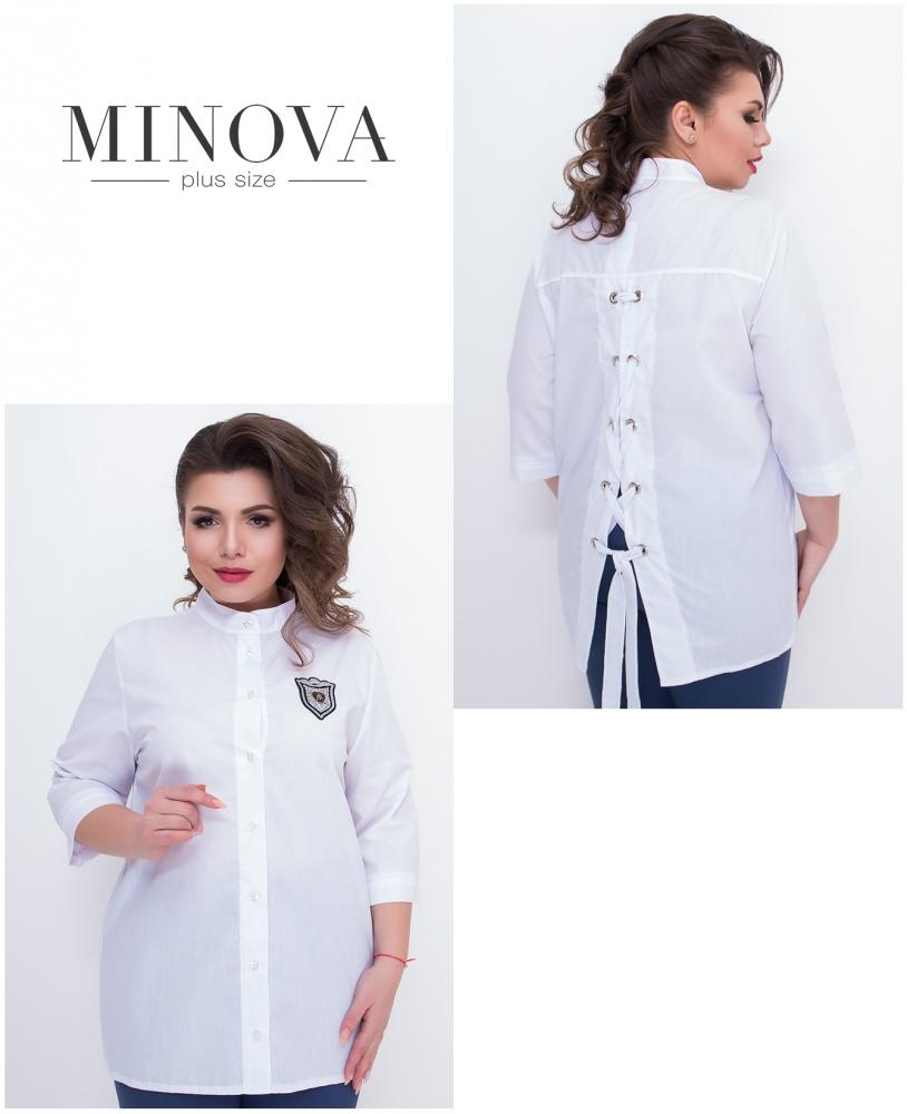 Рубашка №630-белый