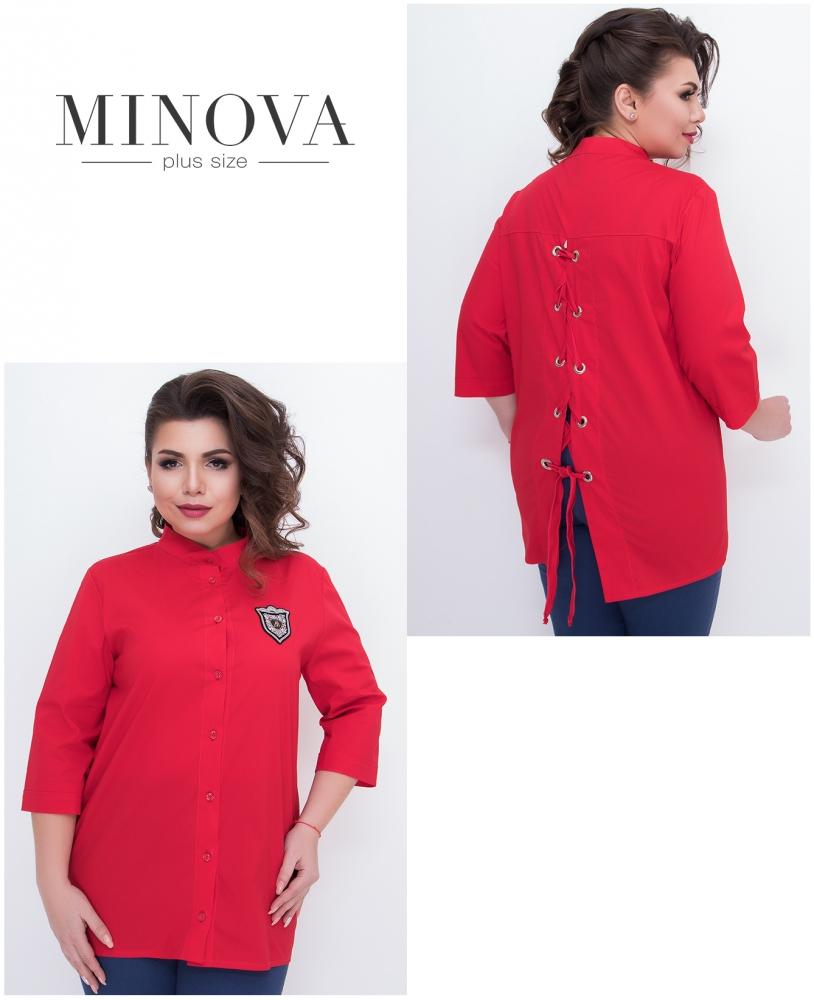 Рубашка №630-красный
