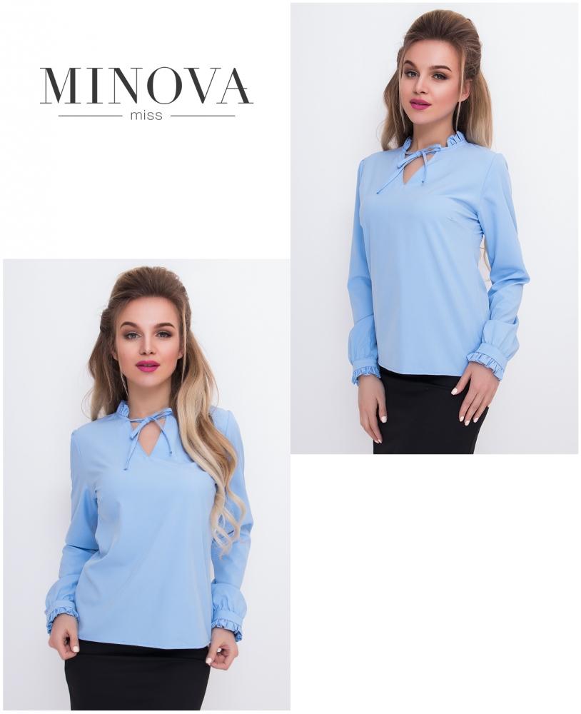 Рубашка №426-голубой