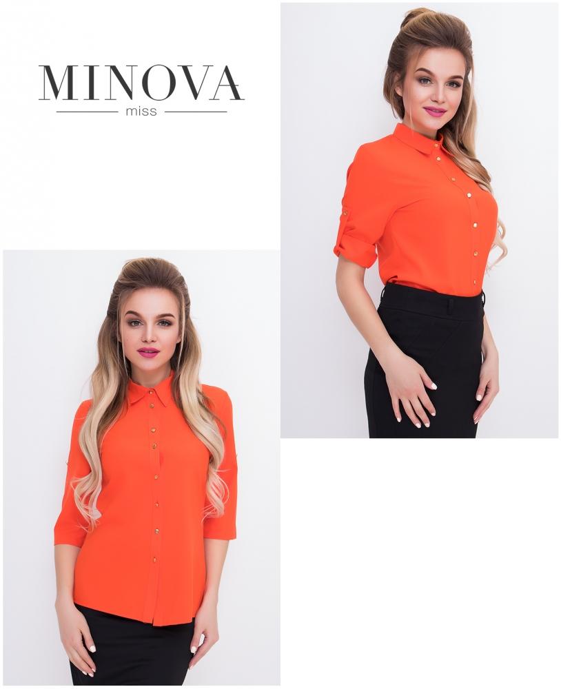 Рубашка №427-оранжевый