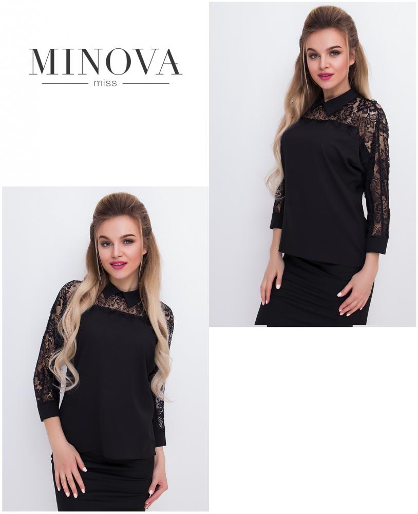 Блуза №4076-черный