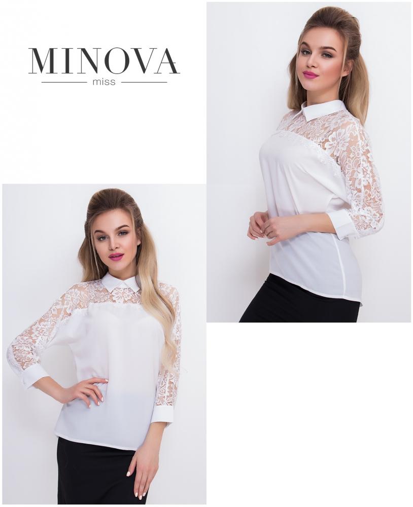 Блуза №4076-белый