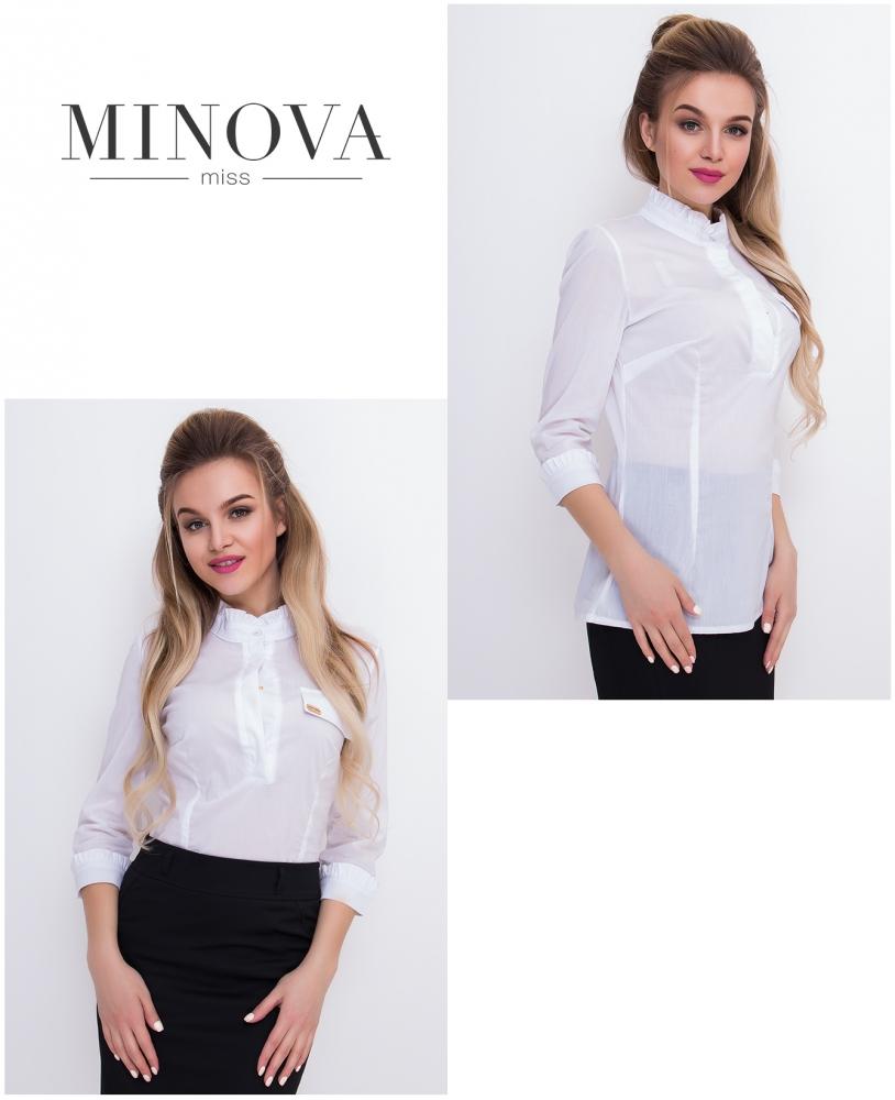 Блуза №1043-белый