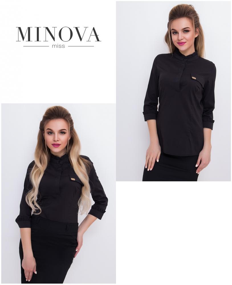 Блуза №1043-черный