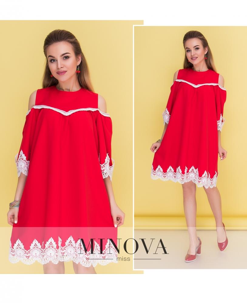 Платье №043н-красный (sale)