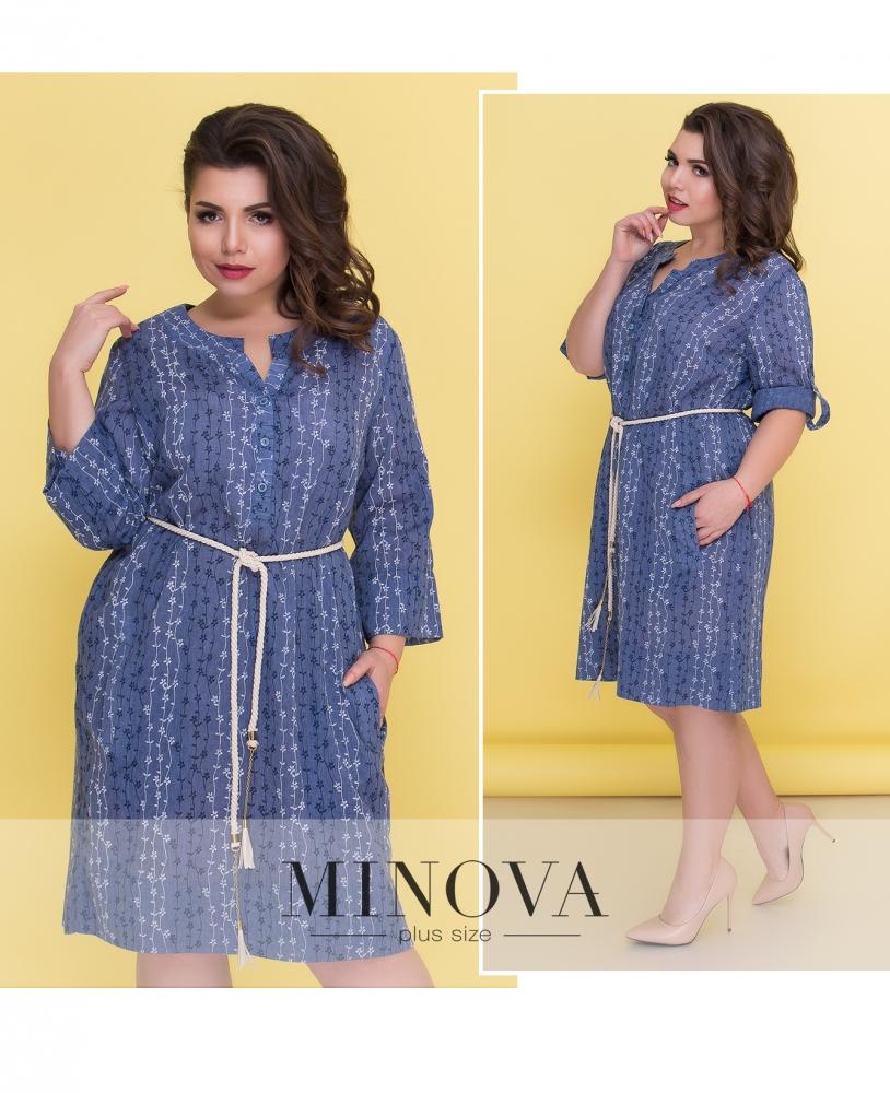 Платье №18-17-голубой (sale)